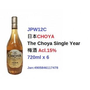*日本CHOYA The Choya Single Year 梅酒 Acl.15% 720ml (JPW12C)