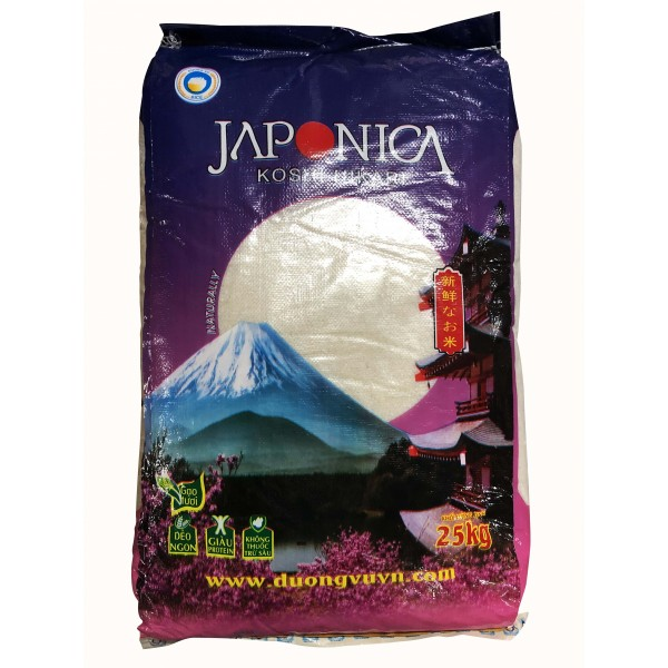 越南珍珠米Japonica Rice 25KG(VNR001/509100)