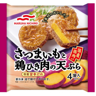 日本MARUHA 紫薯雞茸天婦羅 128g